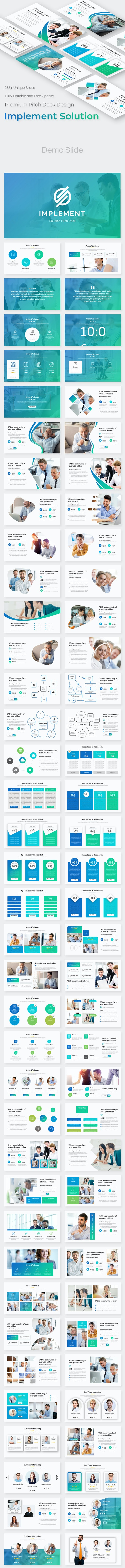 Implement Solution Pitch Deck Keynote Template - Creative Keynote Templates