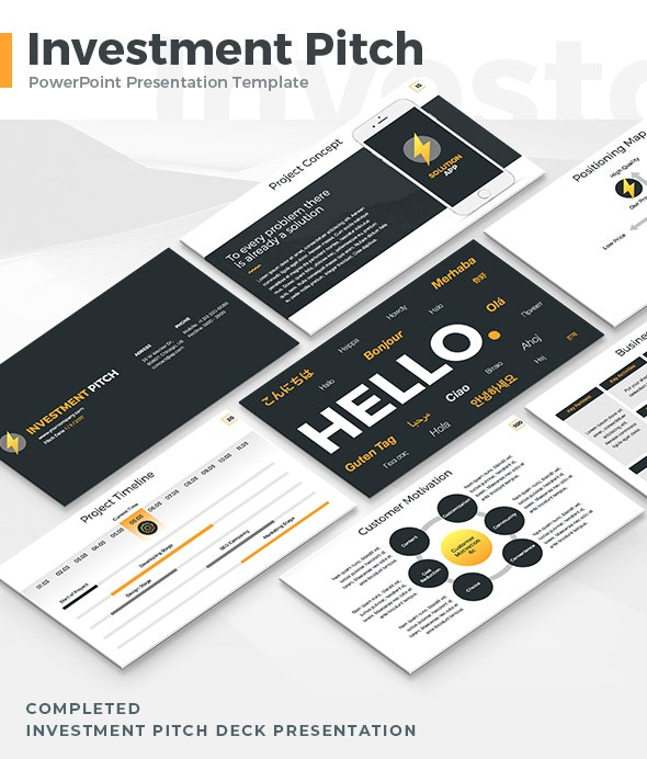Investment Pitch - PowerPoint Template - Business PowerPoint Templates