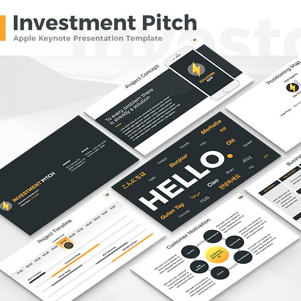 Investment Pitch - Keynote Template