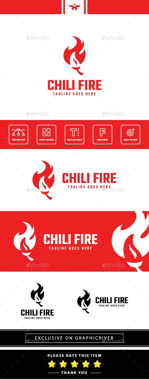 Chili Fire Logo - Food Logo Templates
