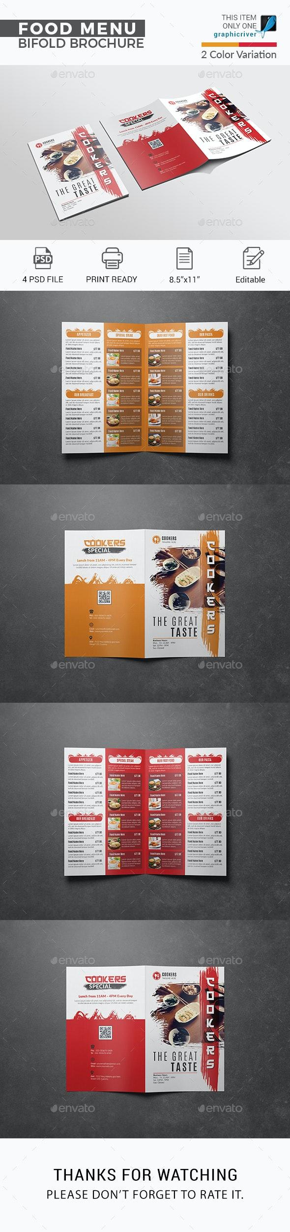Food Bifold Brochure - Food Menus Print Templates