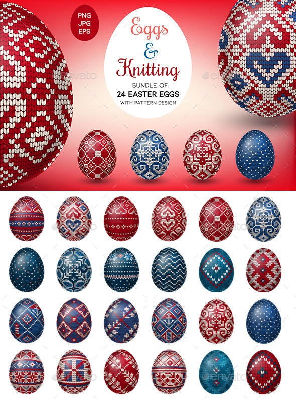 Eggs & Knitting - Miscellaneous Seasons/Holidays
