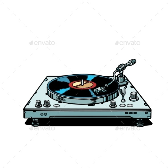 Vinyl Record Player - Man-made Objects Objects