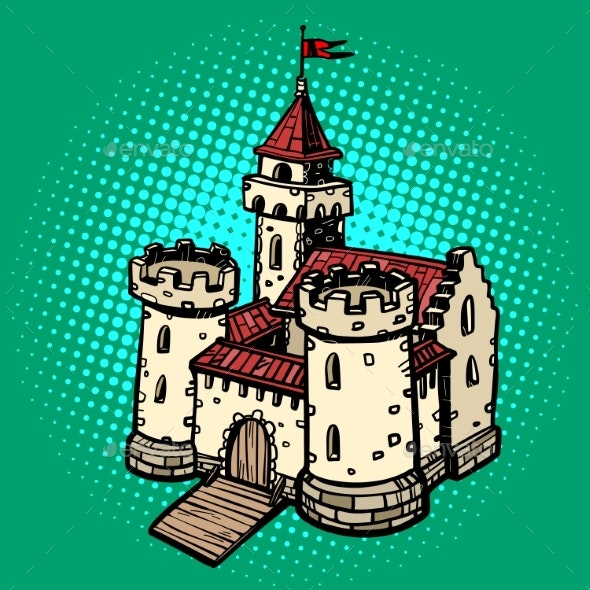 Medieval Castle Fairy Kingdom - Buildings Objects