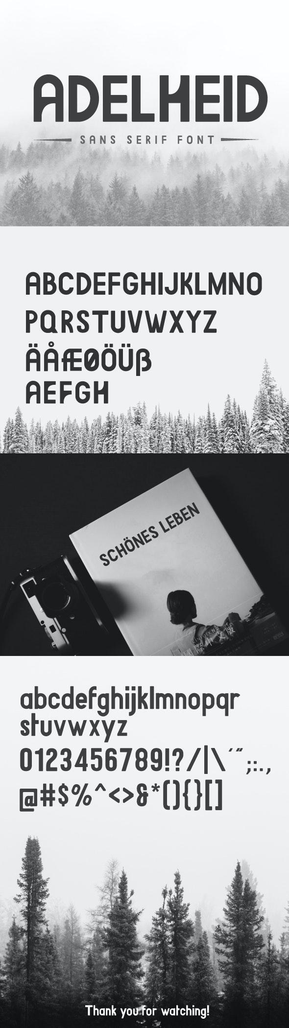 Adelheid - Sans-Serif Fonts