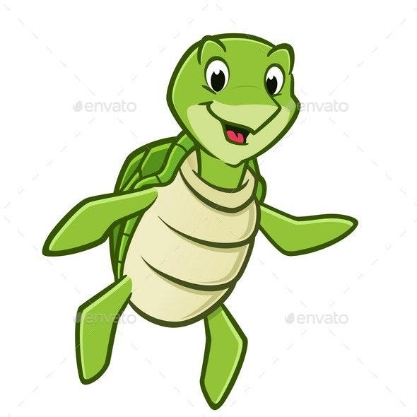 Cartoon Sea Turtle - Animals Characters