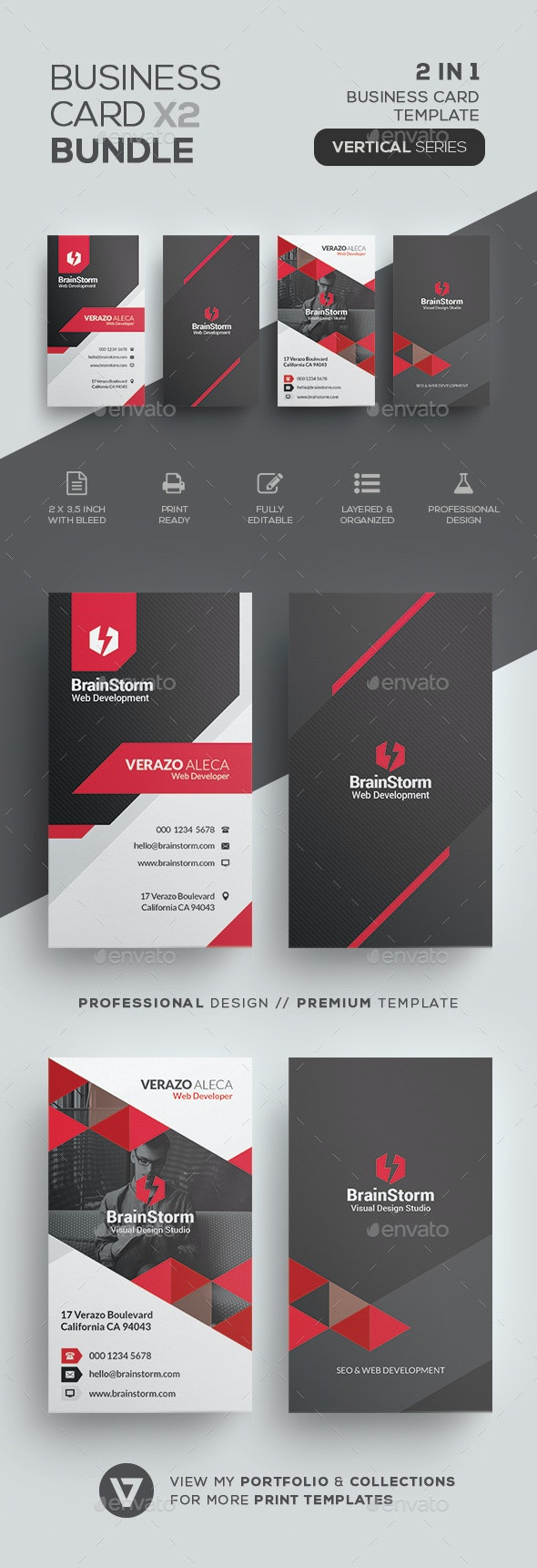 Business Card Bundle 66 - Corporate Business Cards