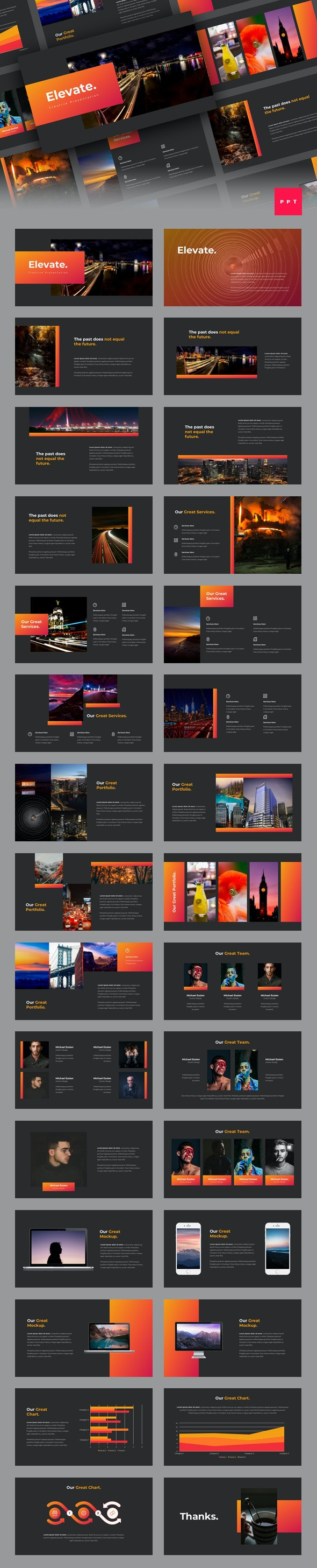 Elevate - Creative PowerPoint Template - Creative PowerPoint Templates