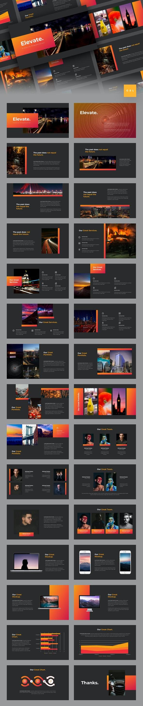 Elevate - Creative Google Slides Template - Google Slides Presentation Templates
