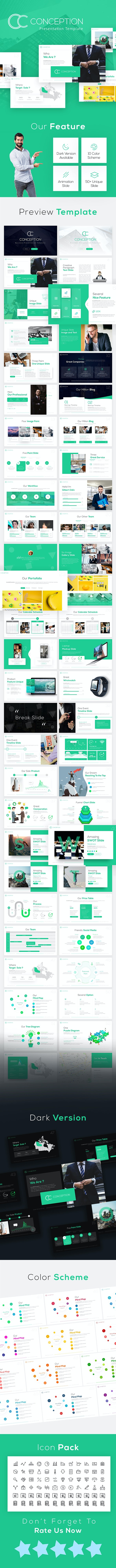 Conception  - Business PowerPoint Template - PowerPoint Templates Presentation Templates