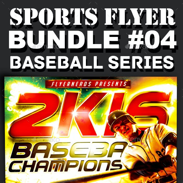 Sports Flyer Bundle 04 Baseball Series