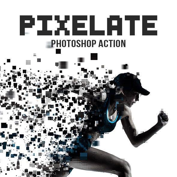 Pixelate Photoshop Action