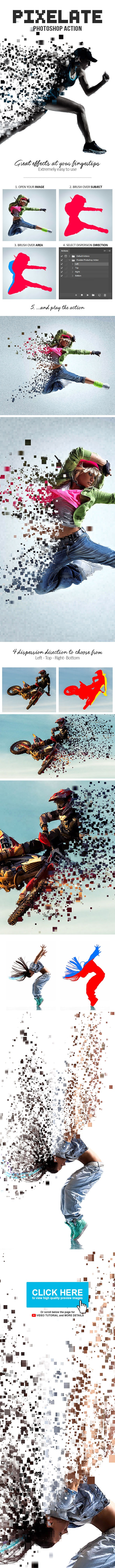 Pixelate Photoshop Action - Photo Effects Actions