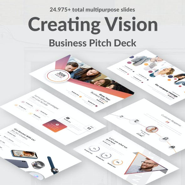 Creating Vision Pitch Deck Powerpoint Template