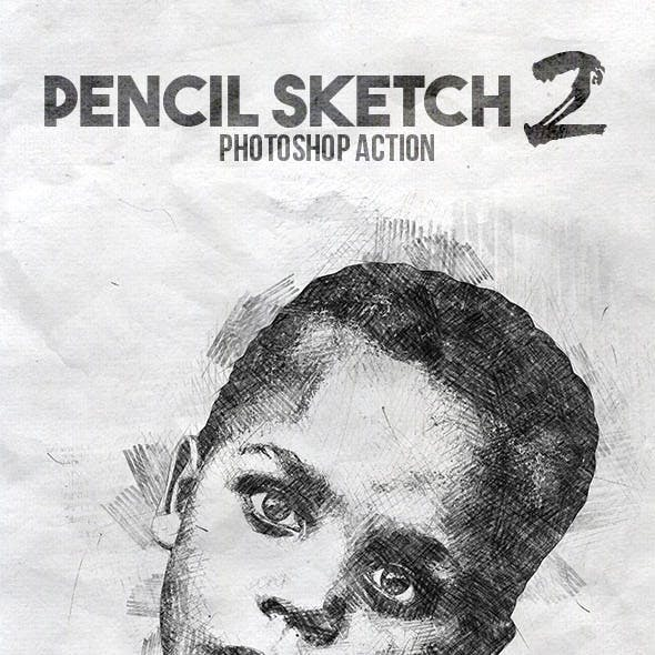 Pencil Sketch 2 Photoshop Action