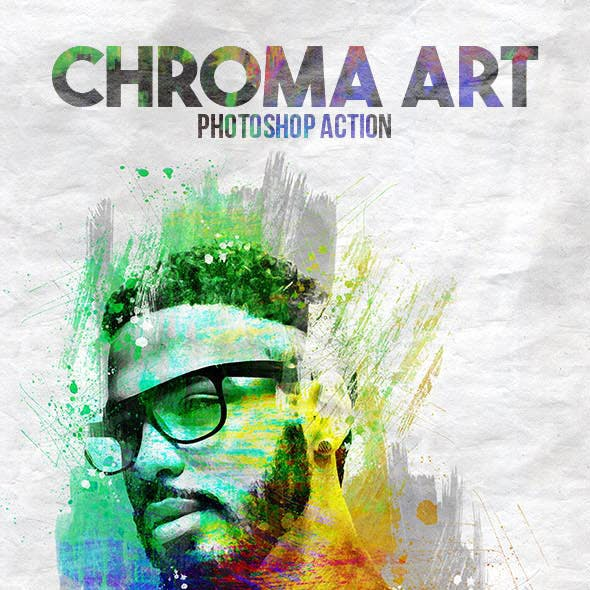 Chroma Art Photoshop Action