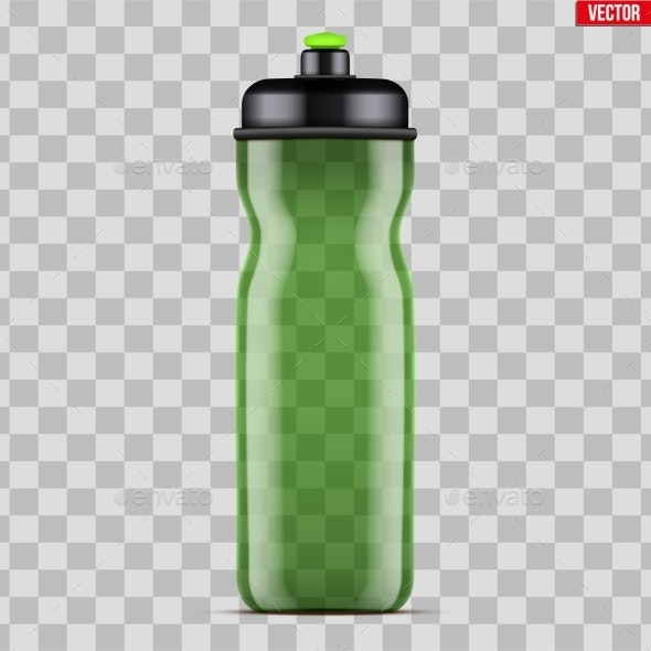 Mock-Up Plastic Sport Nutrition Drink Bottle - Sports/Activity Conceptual