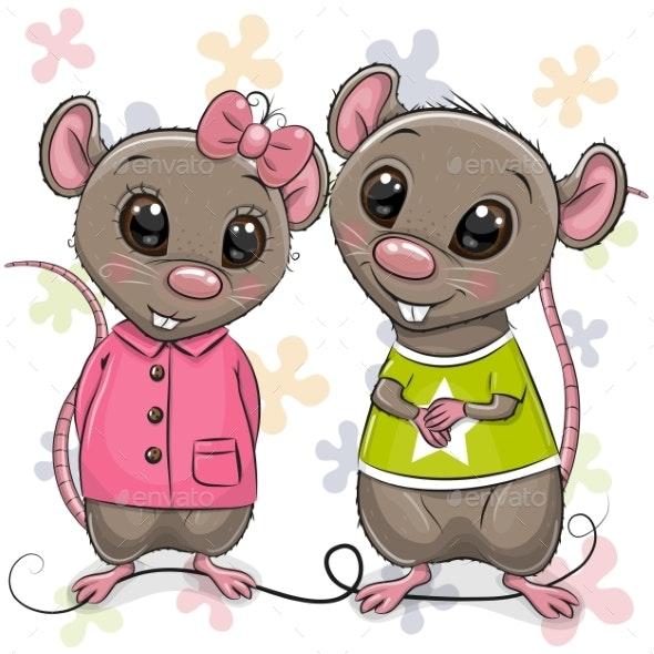 Two Cartoon Rats - Miscellaneous Vectors