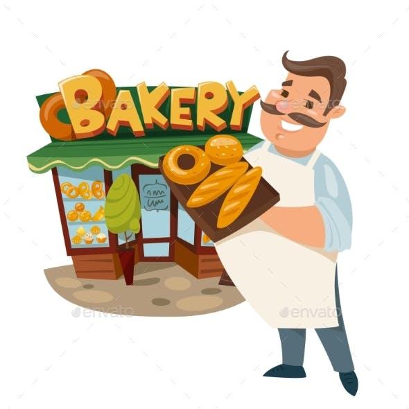 Vector Illustration of a Baker