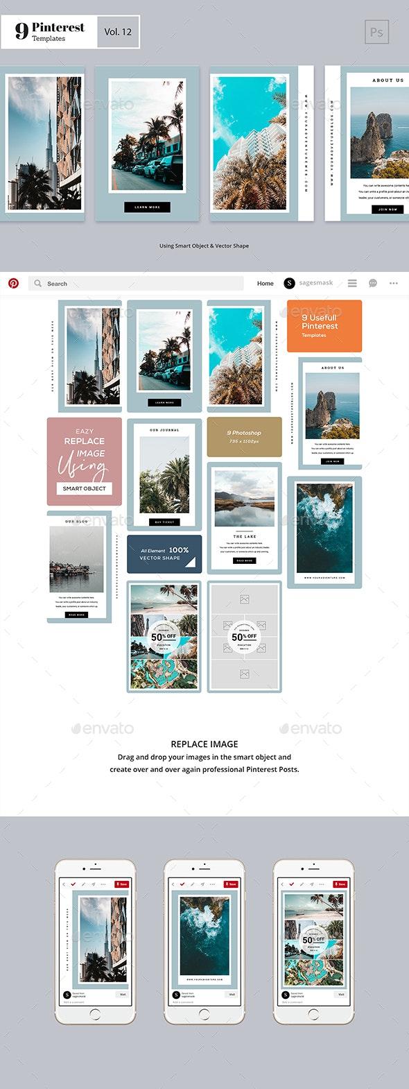 Pinterest Templates Vol. 12 - Facebook Timeline Covers Social Media
