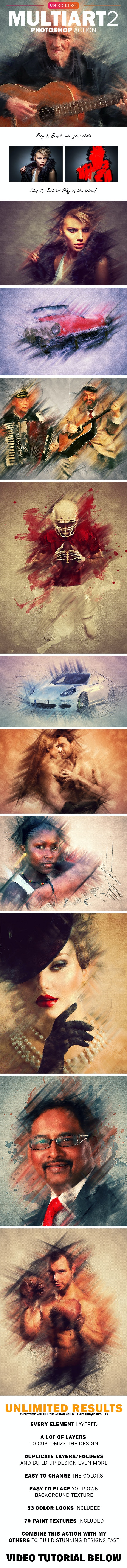 MultiArt 2 Photoshop Action - Photo Effects Actions