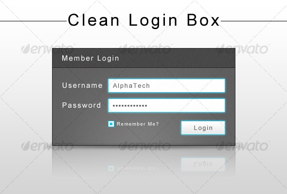 Clean Login Box - Forms Web Elements