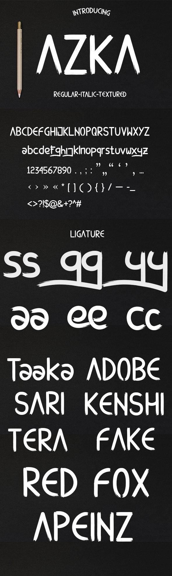 AZKA - Cool Fonts
