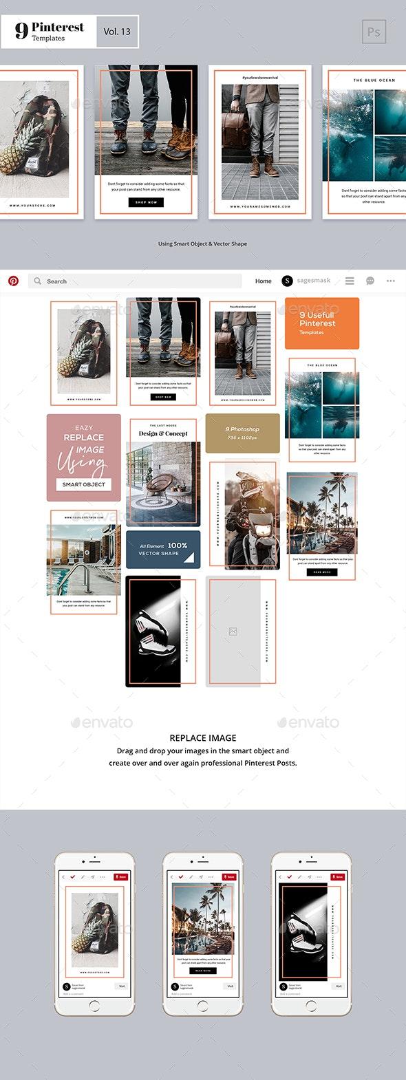 Pinterest Templates Vol. 13 - Social Media Web Elements