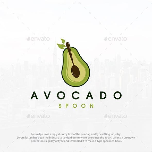 Avocado Spoon Logo Template