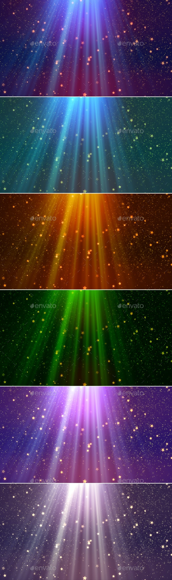 Heavenly Rays Backgrounds - Abstract Backgrounds