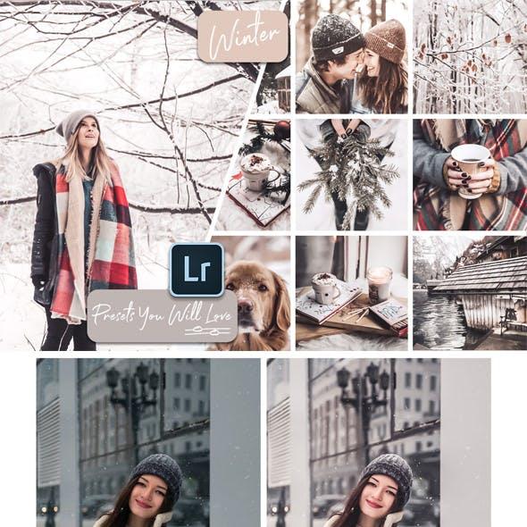 Winter Lightroom Desktop and Mobile Presets
