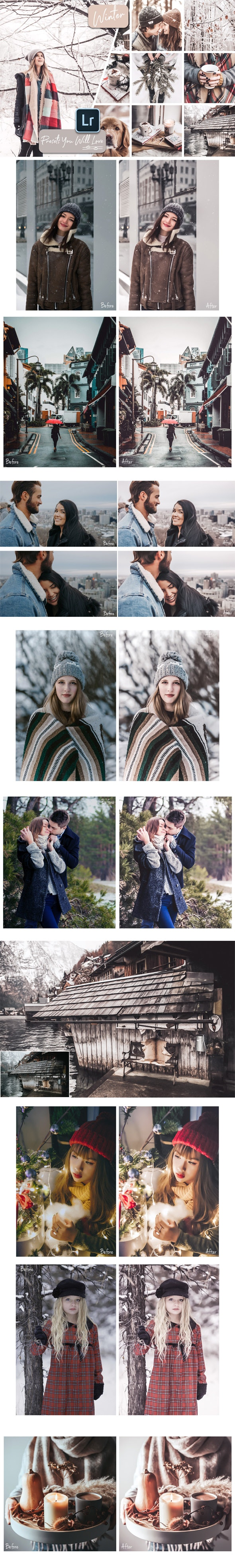 Winter Lightroom Desktop and Mobile Presets - Portrait Lightroom Presets
