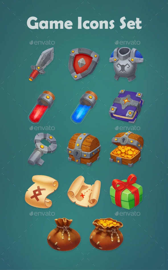 Game Icons Set - Miscellaneous Game Assets