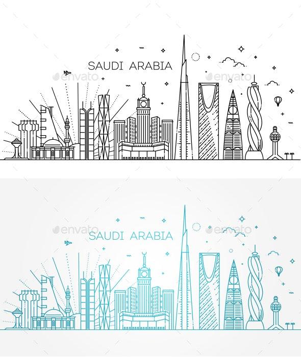 Saudi Arabia Detailed Skyline - Buildings Objects