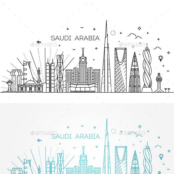 Saudi Arabia Detailed Skyline