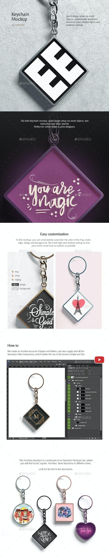 Keychain Mockup - Product Mock-Ups Graphics