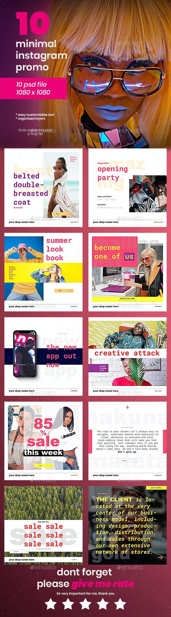 Instagram Pack - 10 Posts - Social Media Web Elements