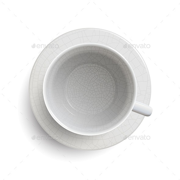 Empty Vintage White Cup - Man-made Objects Objects