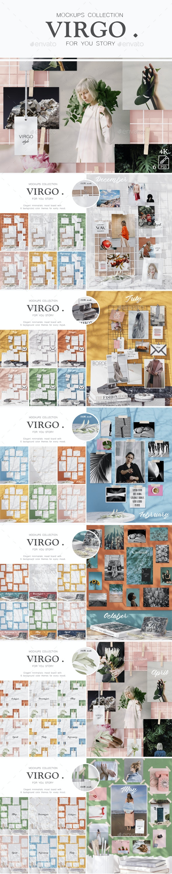 Mockups Collection - Virgo - Stationery Print