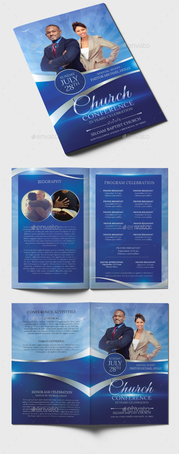 Church Conference Program Template - Informational Brochures