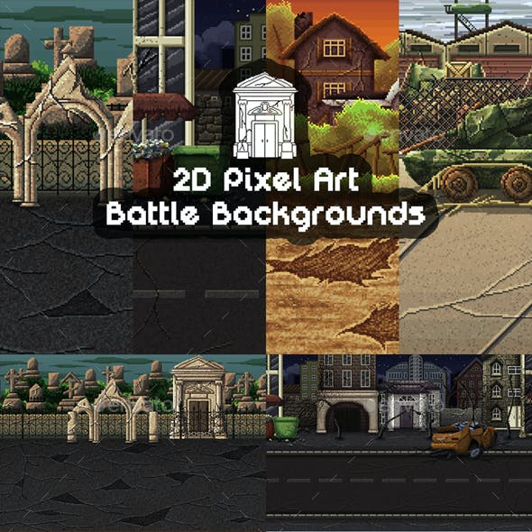 Battle Backgrounds Pixel Art