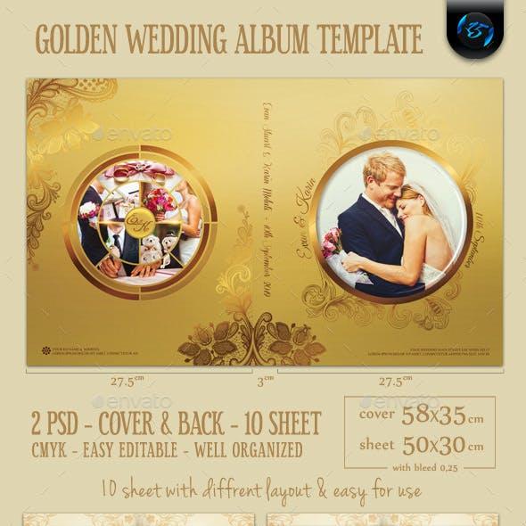 Golden Wedding Album Template