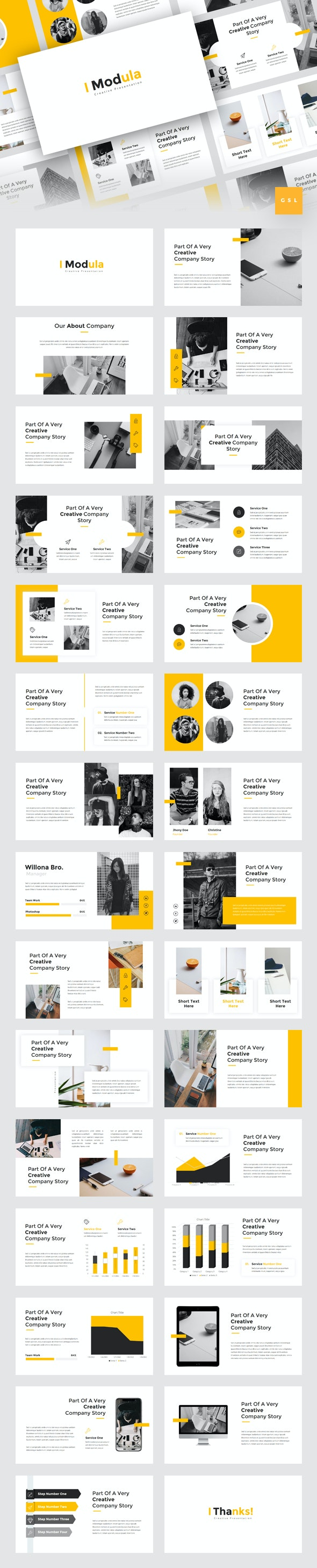 Modula - Creative Google Slides Template - Google Slides Presentation Templates