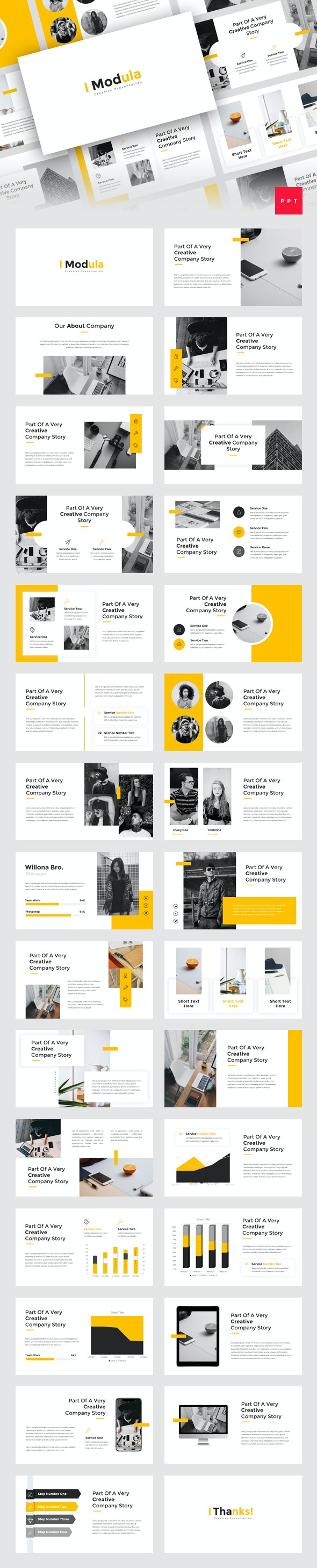 Modula - Creative PowerPoint Template - Creative PowerPoint Templates