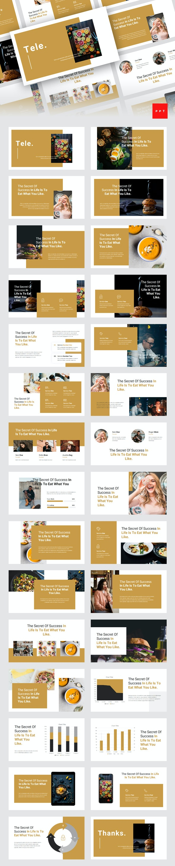 Tele - Food PowerPoint Template - Miscellaneous PowerPoint Templates
