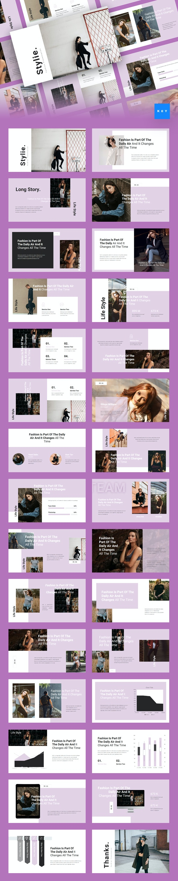 Stylie - Fashion Keynote Template - Creative Keynote Templates