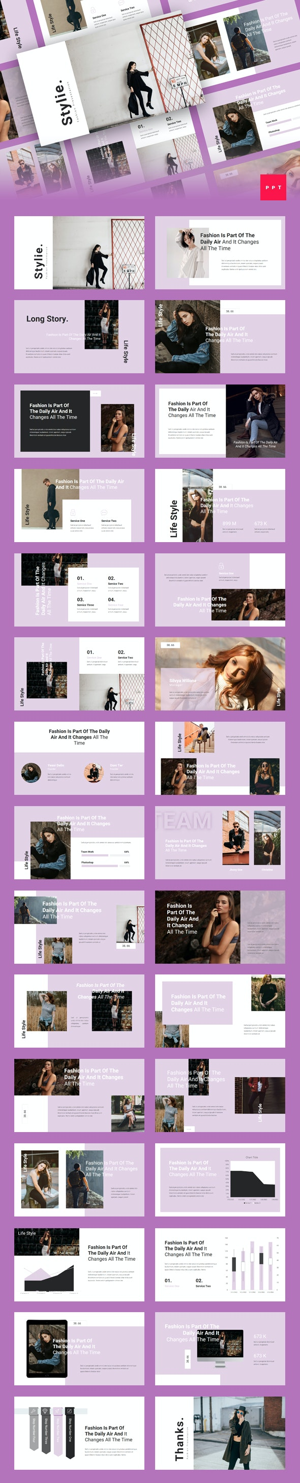 Stylie - Fashion PowerPoint Template - Creative PowerPoint Templates