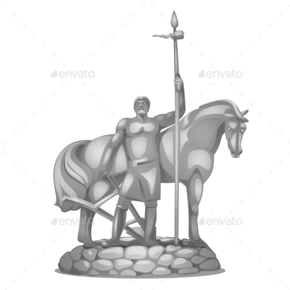 Monument To the First Settler in Russian City - Miscellaneous Vectors