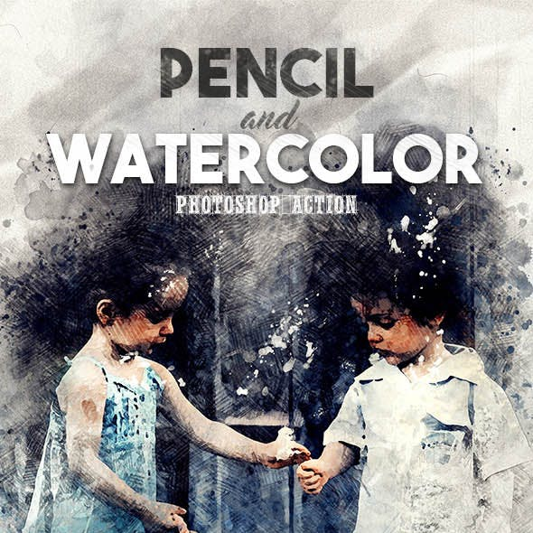 Pencil n Watercolor Photoshop Action