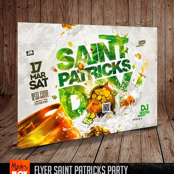 Flyer Saint Patricks Party